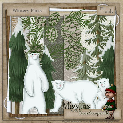 Wilma4ever Blog Train... Wintery Pines