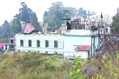 Dow Hill School junior section in Kurseong gutted in fire