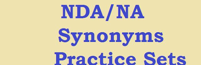 NDA Synonyms Practice Sets