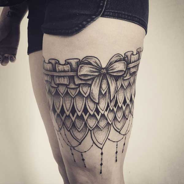 garter belt tattoo ideas