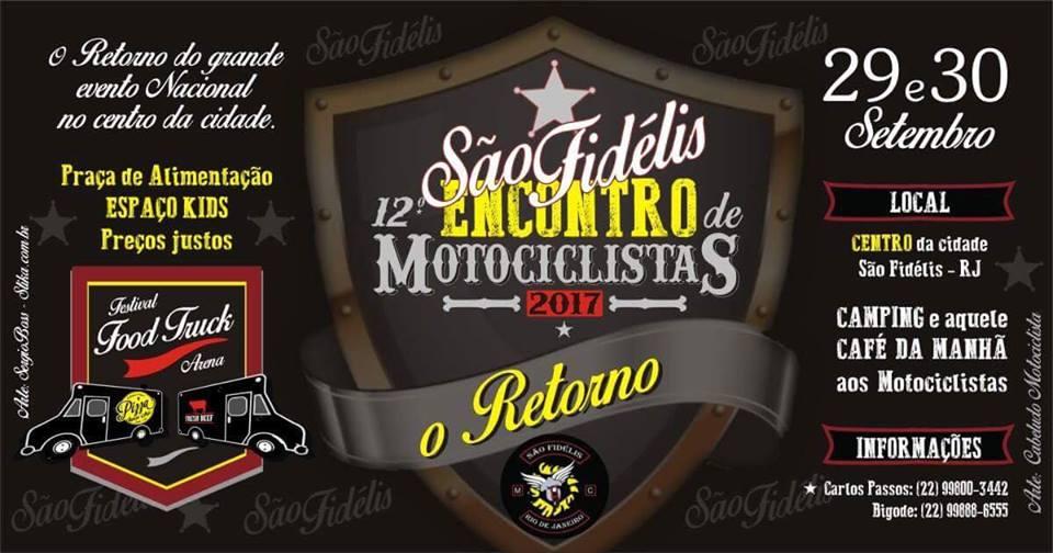 O 12º Encontro de Motociclistas de São Fidélis(RJ) será de 29 a 30 de  setembro. d20232d2d1