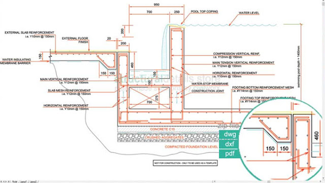 Download sample cad drawing of infinity type swimming pool for Pool design software free download