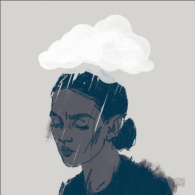 رسمه كرتونيه عن الاكتئاب