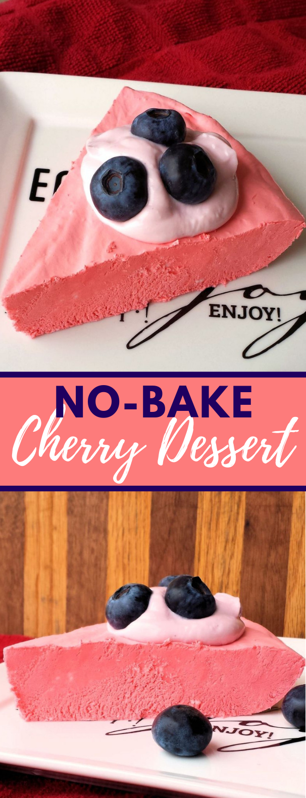 No-Bake Cherry Dessert #cake #strawberry