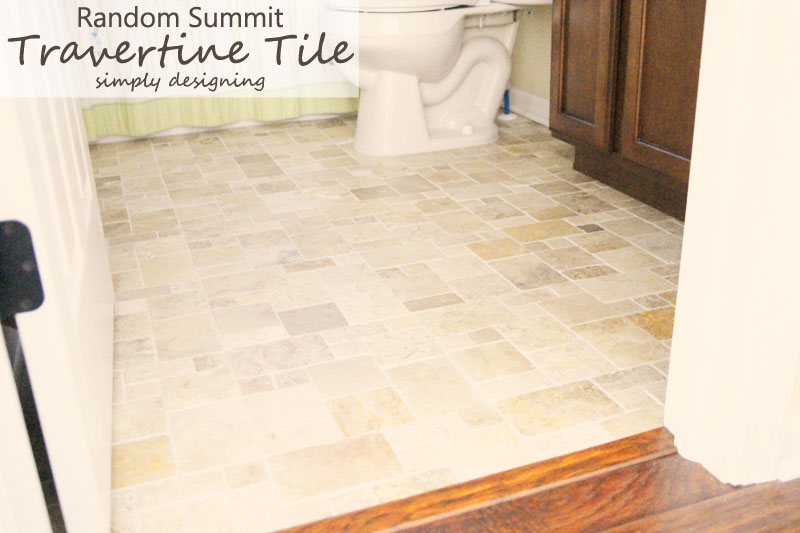Random Summit Travertine Tile | a complete tutorial for how to demo, prep, install concrete backer board and install tile | #diy #bathroom #tile #thetileshop @thetileshop