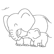 Baby Elephant Coloring Pages Ideas Images