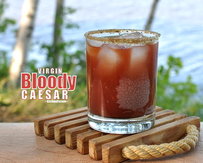 Virgin Bloody Caesar (Canada's Bloody Mary, a 'virgin' without the vodka)
