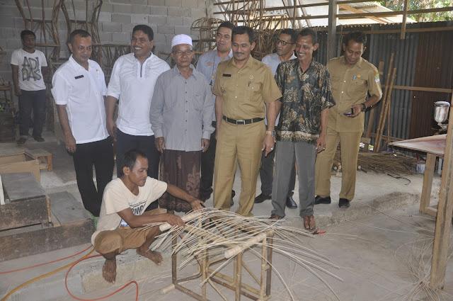 Produk Mebel Rotan dari Aceh Jaya Mulai Dieskpor
