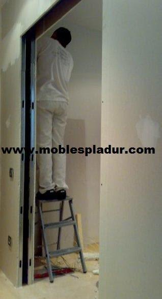 Pladur barcelona puertas correderas - Puerta corredera empotrada ...