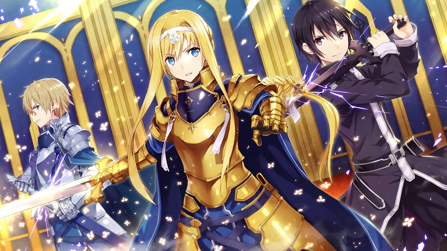 Alice, Kirito, Eugeo, Sword Art Online Alicization, 4K, #4.1890