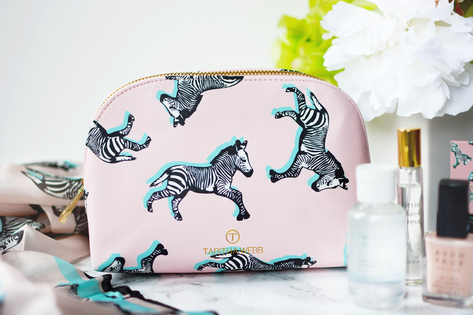 T by Tabitha Webb Zebra Print Cosmetics Bag