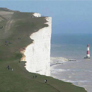 Beachy Head Cliffs, England. Will you dare to stand here?
