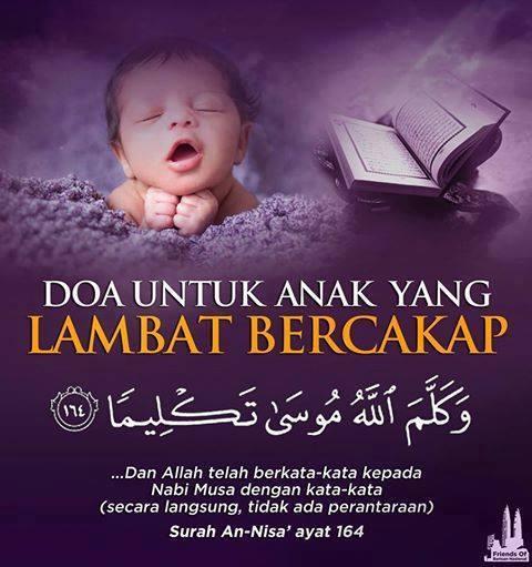 Doa Jika Anak Lambat Bercakap