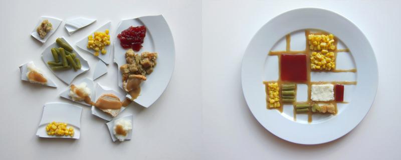 La cena de Acción de Gracias representada por Artistas