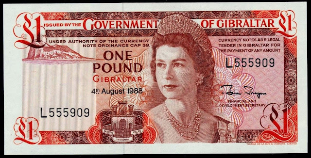 Gibraltar Banknotes 1 Pound banknote 1988 Queen Elizabeth II