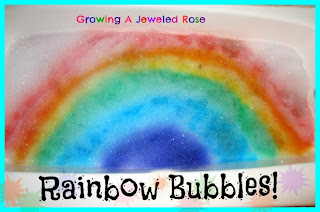 rainbow bubbles rainbow activities