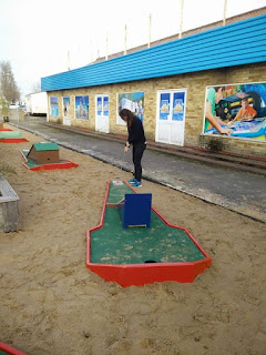 Crazy Golf course at Seawick Holiday Park in St Osyth, near Clacton, Essex. Photo by Adam Trigg, March 2017