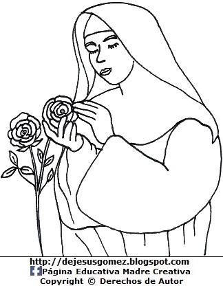 Dibujo de Santa Rosa de Lima con túnica
