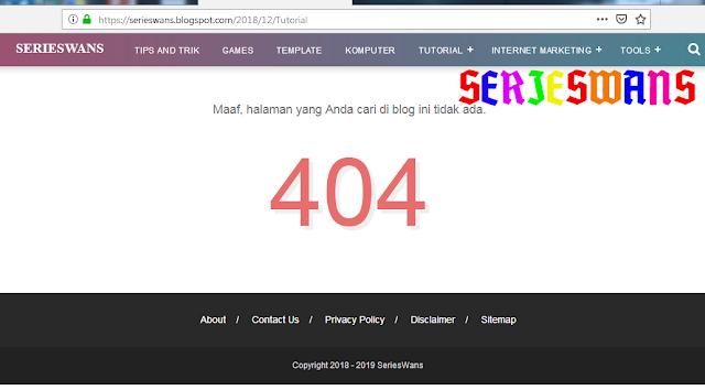 Penyebab dan Cara Mengatasi 404 Page Not Found di Webmaster Tools