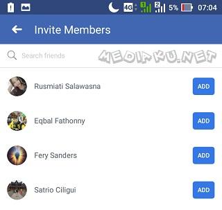 Invite Teman Grup Facebook