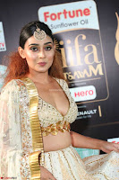 Apoorva Spicy Pics in Cream Deep Neck Choli Ghagra WOW at IIFA Utsavam Awards 2017 09.JPG