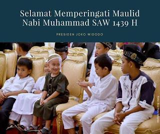 Pesan Jokowi Hari Maulid Nabi di Istana Bogor