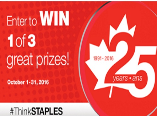 Staples 25th Anniversary Contest #ThinkStaples