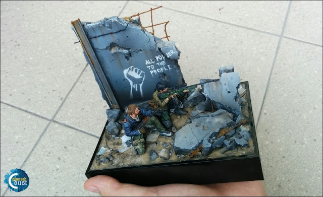 Using the photo frame as a bases for miniatures and dioramas.