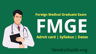 Foreign Medical Graduate Exam (FMGE) is a Screening test conducted by national Board of Examination (NBE).