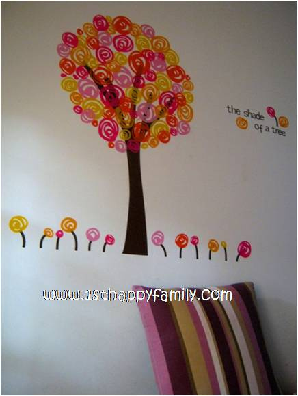 Tmart Colourful Flowers Tree Wall Stickers Decor Art Mural Decal Nursery Bedroom