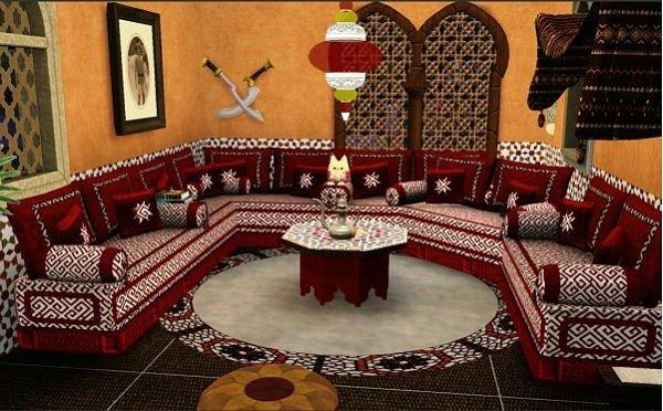 Moderne Marokkanische Wohnzimmer