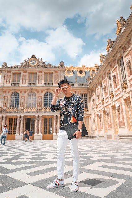 Leo Chan Outfit at Palace of Versailles Paris