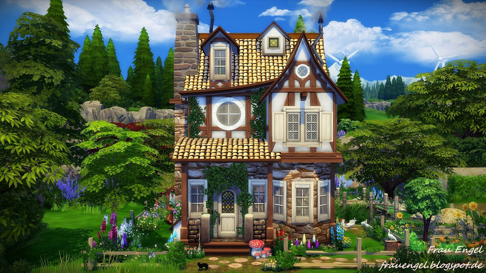 Frau engel ts4 witch house for Classic house sims 3