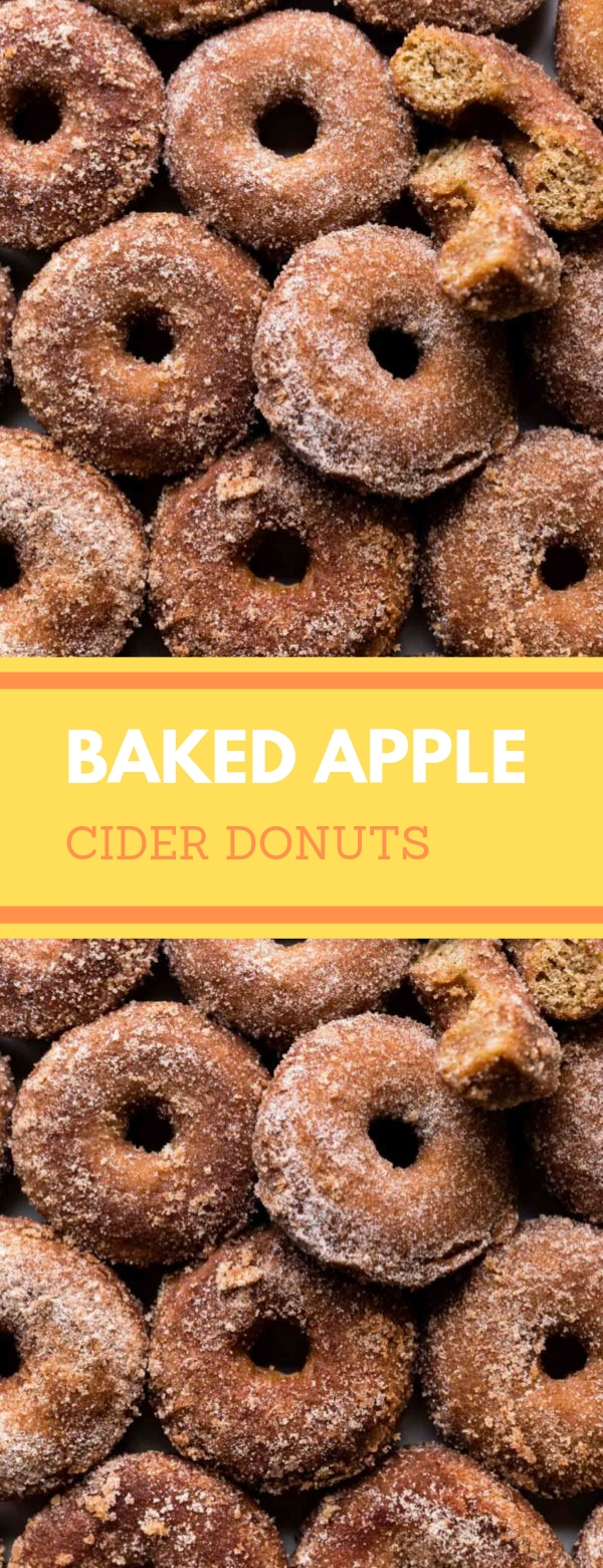 Baked Apple Cider Donuts #DONUTS #SNACK #SIDEDISH #BAKED