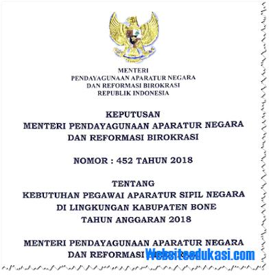 Formasi CPNS 2018 Kabupaten Bone