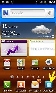 Aplicações Samsung Galaxy S II