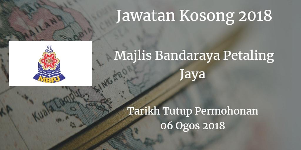Jawatan Kosong MBPJ 06 Ogos 2018