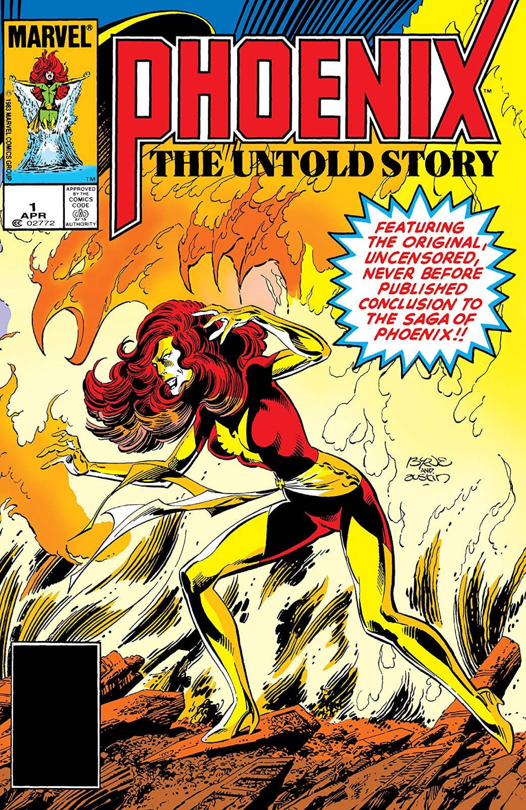 Dark Phoenix gesturing with energy effect around her