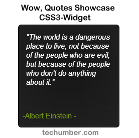 Wow, Quotes Showcase Widget Using Pure CSS3-techumber.com