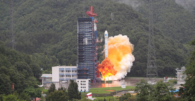 Long March 3B rocket lifts off with two BeiDou-3 satellites on July 29, 2018. Photo Credit: Xinhua/Liang Keyan