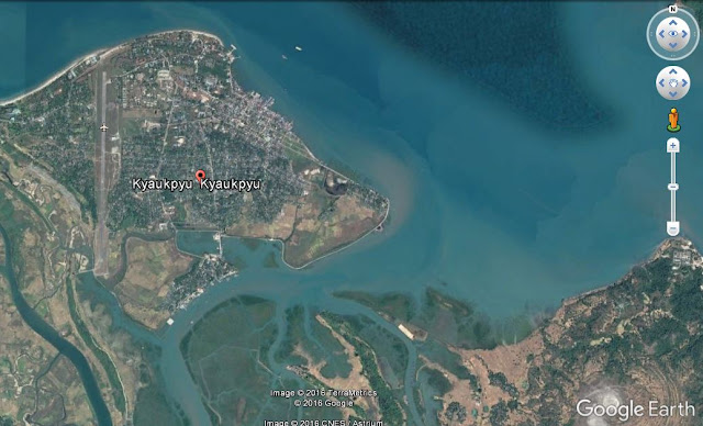 Map Attribute: Port City of Kyaukphyu, Myanmar / (c) 2016 TerraMetrics and DigitalGlobe via Google Earth