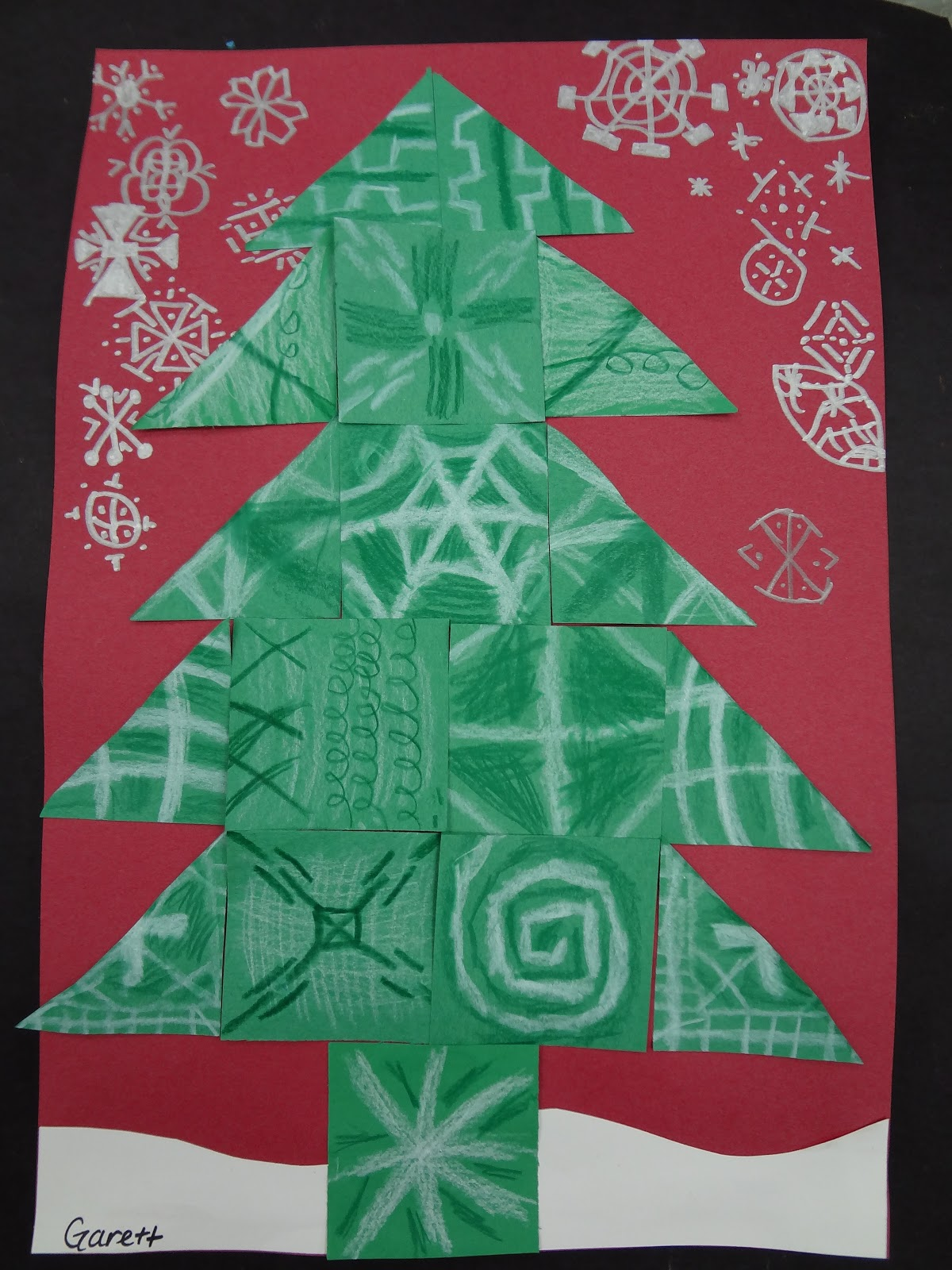 elementary christmas craft ideas sharpies paint and paper oh my trees trees and more 4395