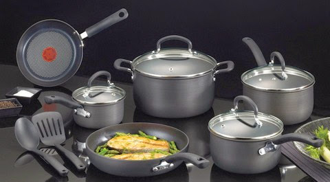 T-fal E918SC Ultimate Hard Anodized Nonstick Cookware Set