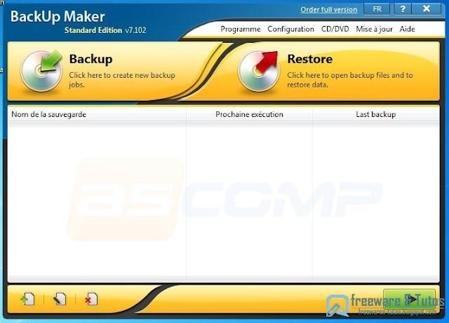 BackUp Maker : un autre logiciel gratuit de sauvegarde de données