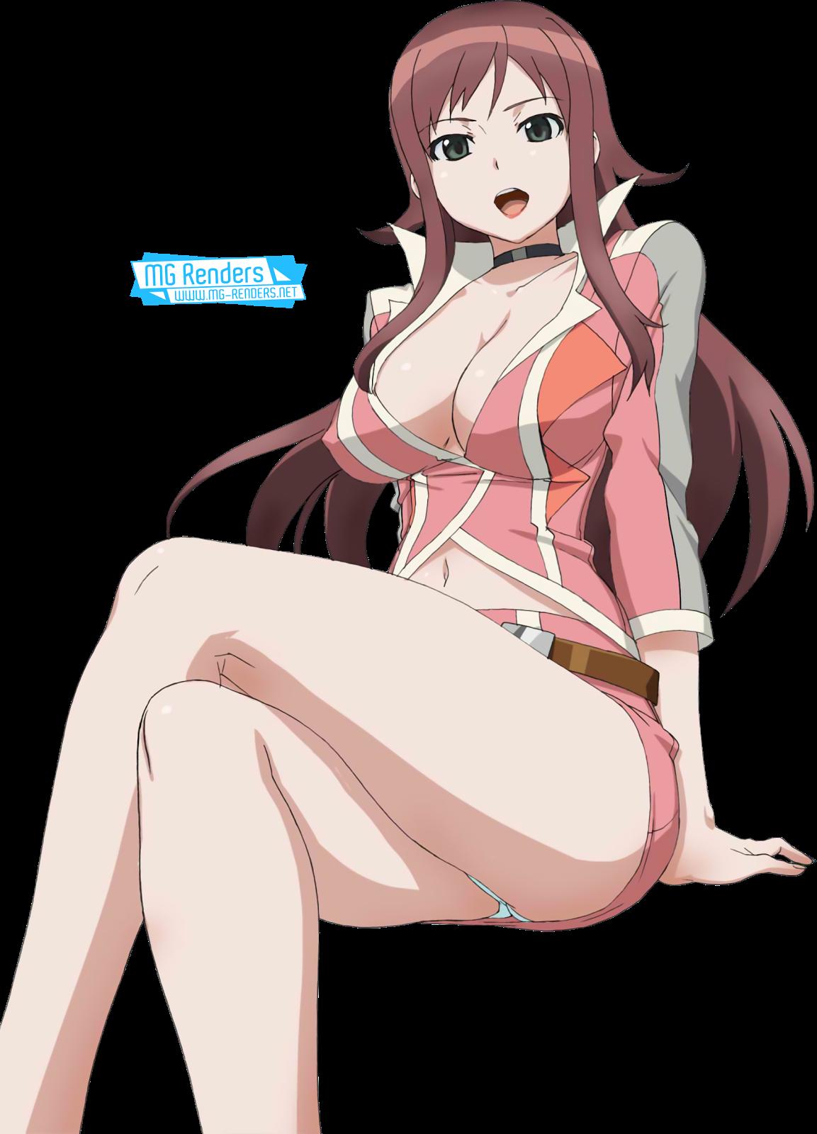 Tags: Anime, Render,  Akana Rui,  Chousoku Henkei Gyrozetter,  Crossed Legs,  Pantsu,  Skirt, PNG, Image, Picture
