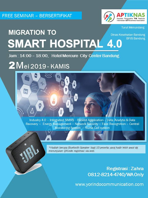 Kami akan hadir di Seminar APTIKNAS Smart Hospital 2 Mei 2019