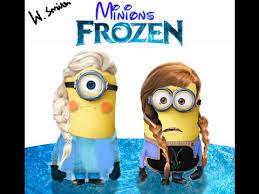 Gambar Frozen Minion Lucu Elsa dan Anna