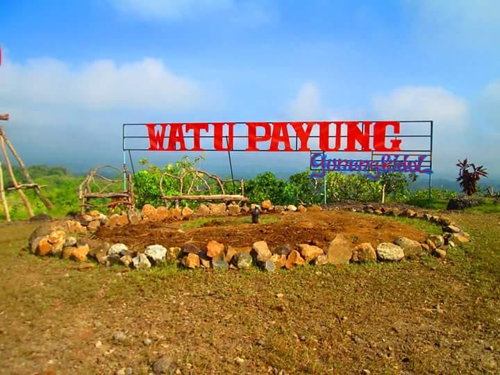peta/rute/jalan menuju puncak watu payung gunungkidul yogyakarta
