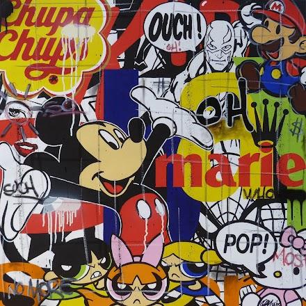 Popkulturelle Cartoon im Streetart Style von Jerome Clem