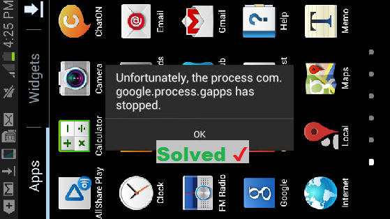 [Fix] unfortunately the process com.google.process.gapps has stopped